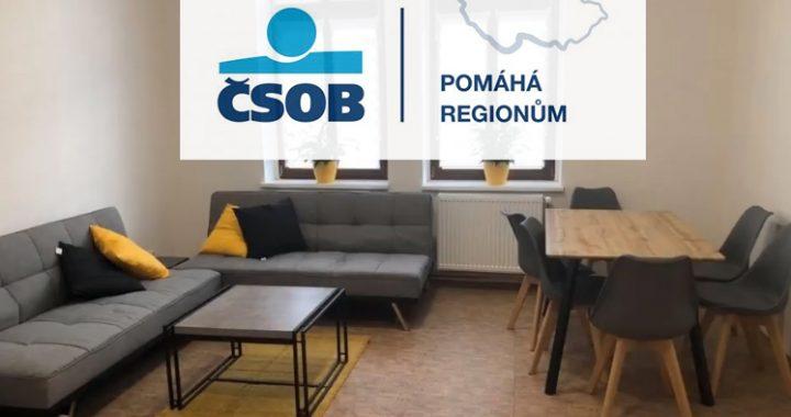 Společné prostory vybavené díky ČSOB pomáhá regionům