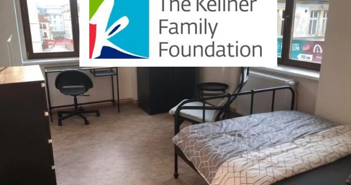 Pokoje vybavené díky  pomoci The Kellner Family  Foundation